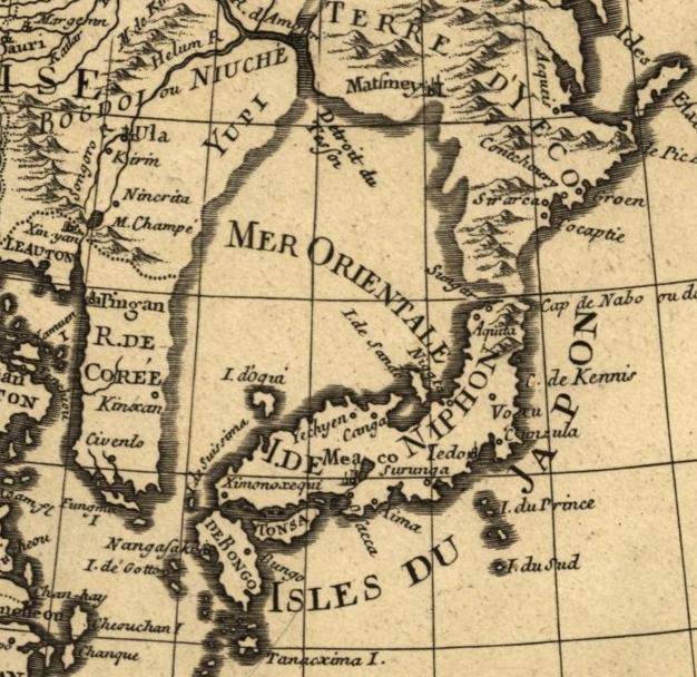 1700년 프랑스 지도. 동양해 Mer Orientale 라고 표기되어 있다.jpg