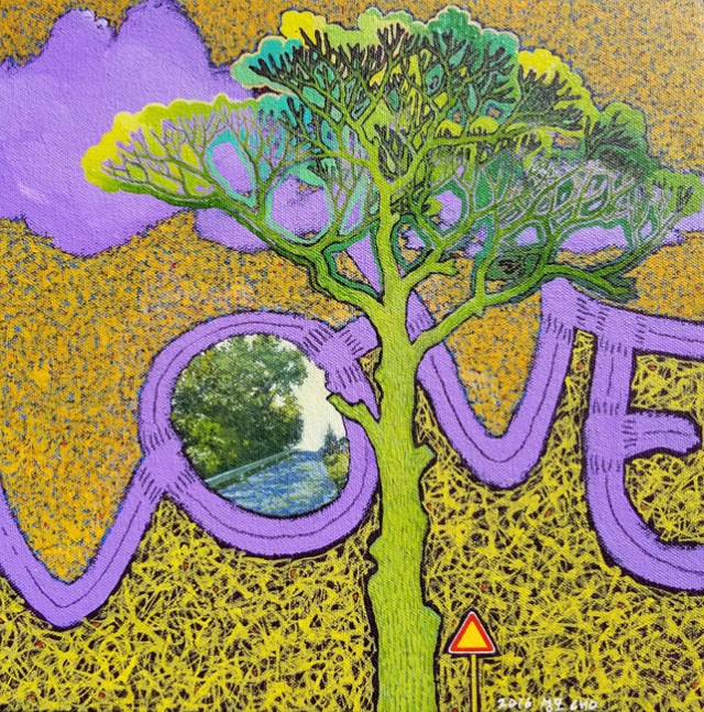 Along the Road - Love Road, Otterkill Rd _ Acrylic on Canvas _ 11_ x 11_ _ 2016.jpg