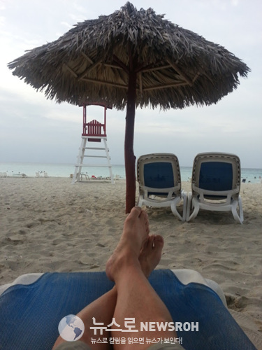 쿠바 제일의 휴양지인 바라데로의 올인 크루시브 리조트에서 여행 중 처음으로 럭셔리한 휴식을 즐겼다..jpg
