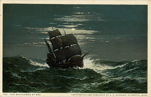 Copyrighted_and_Published_by_A_S_Burbank,_The_Mayflower_at_Sea_(NBY_21340).jpg